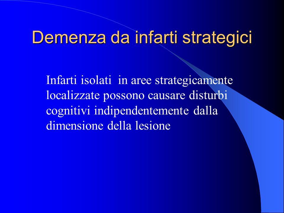 Demenza da infarti strategici