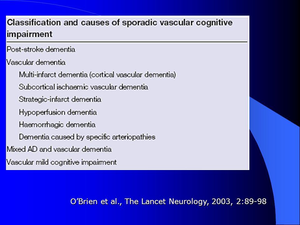 O'Brien et al., The Lancet Neurology, 2003, 2:89-98