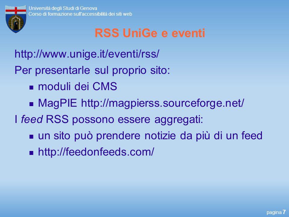 RSS UniGe e eventi http://www.unige.it/eventi/rss/