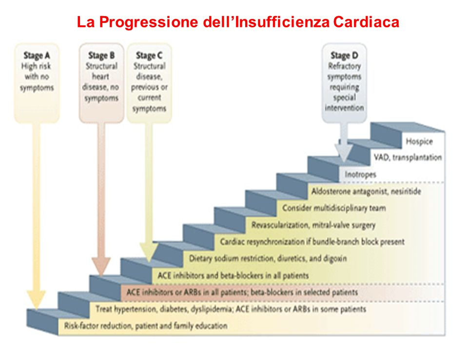 La Progressione dell'Insufficienza Cardiaca
