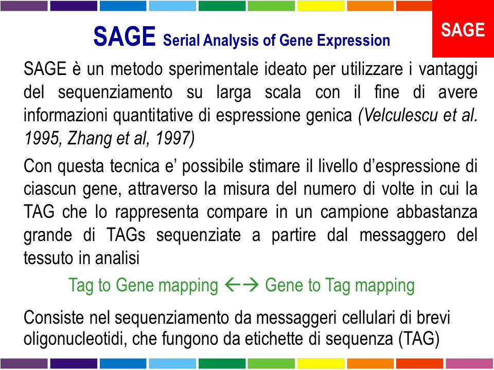 SAGE Serial Analysis of Gene Expression