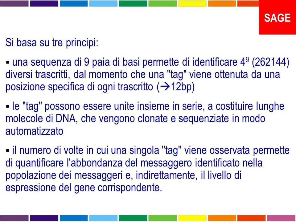 SAGE Si basa su tre principi: