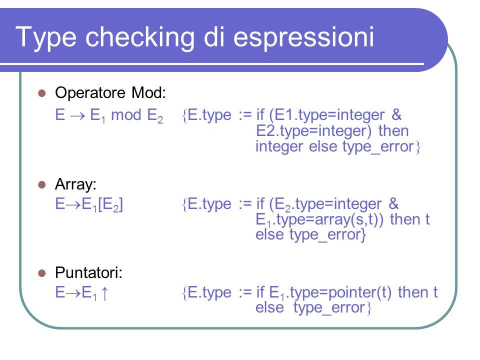 Type checking di espressioni