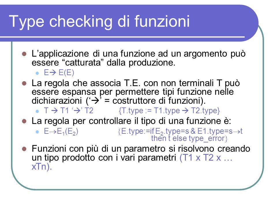 Type checking di funzioni
