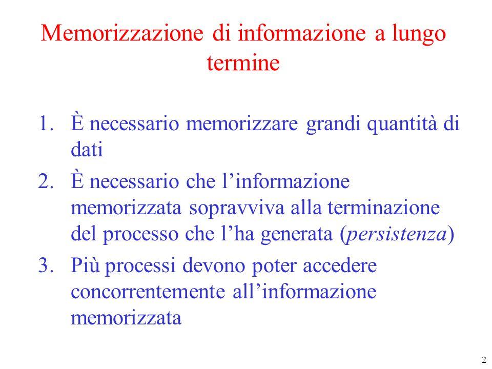 Memorizzazione di informazione a lungo termine