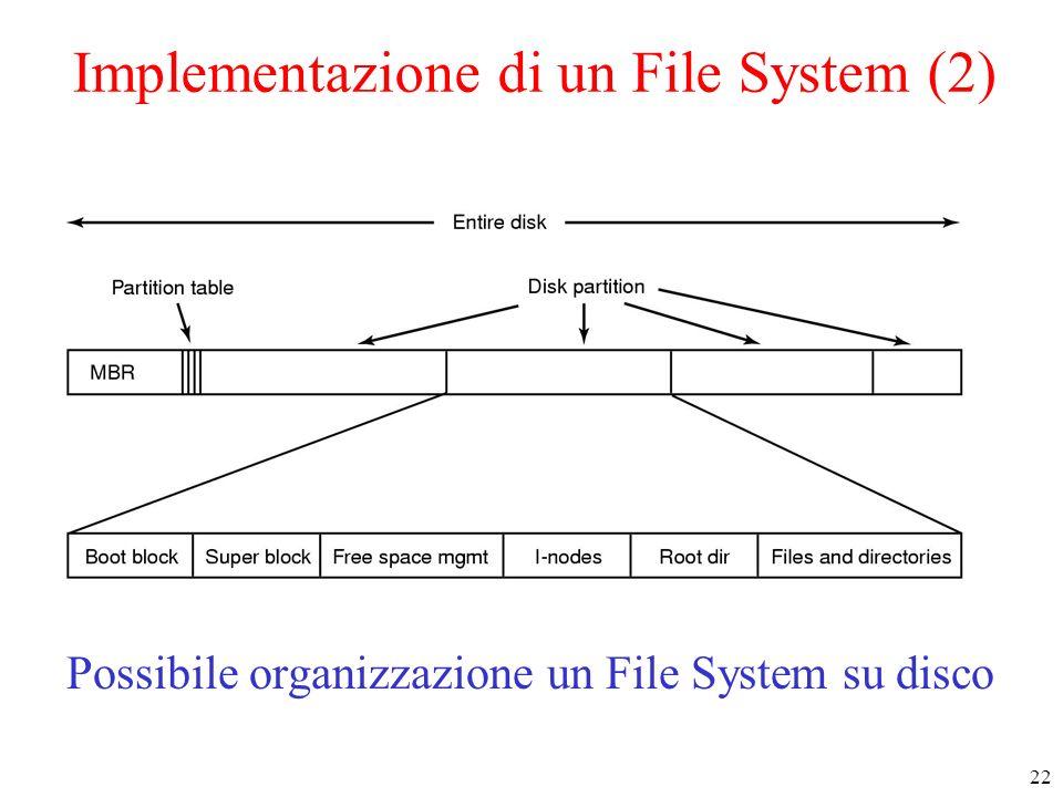 Implementazione di un File System (2)