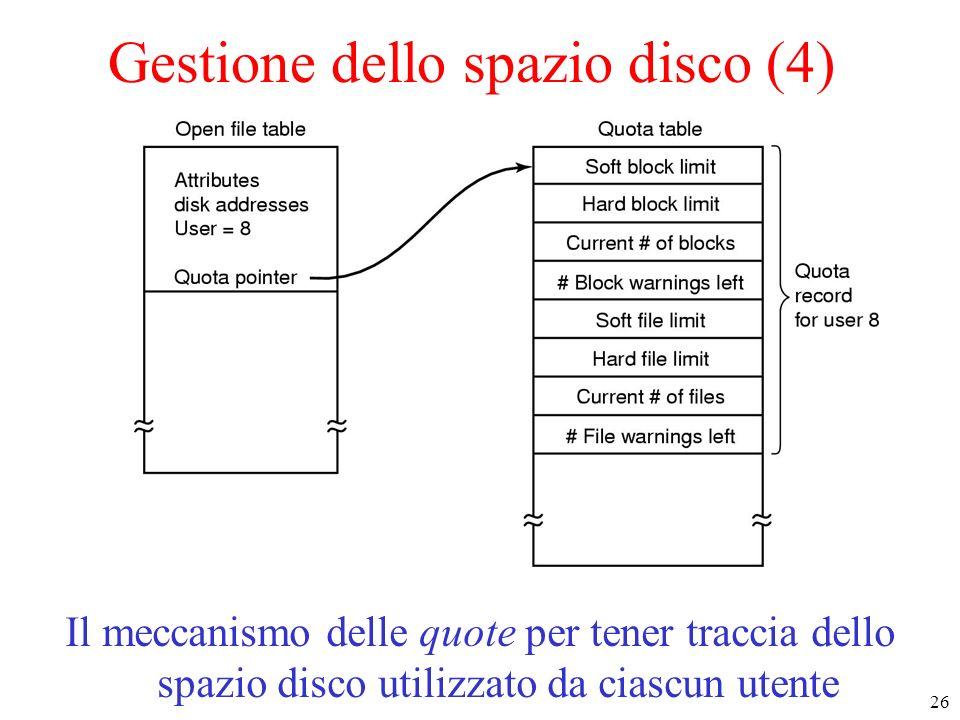 Gestione dello spazio disco (4)