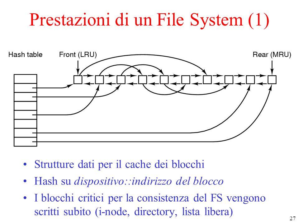 Prestazioni di un File System (1)