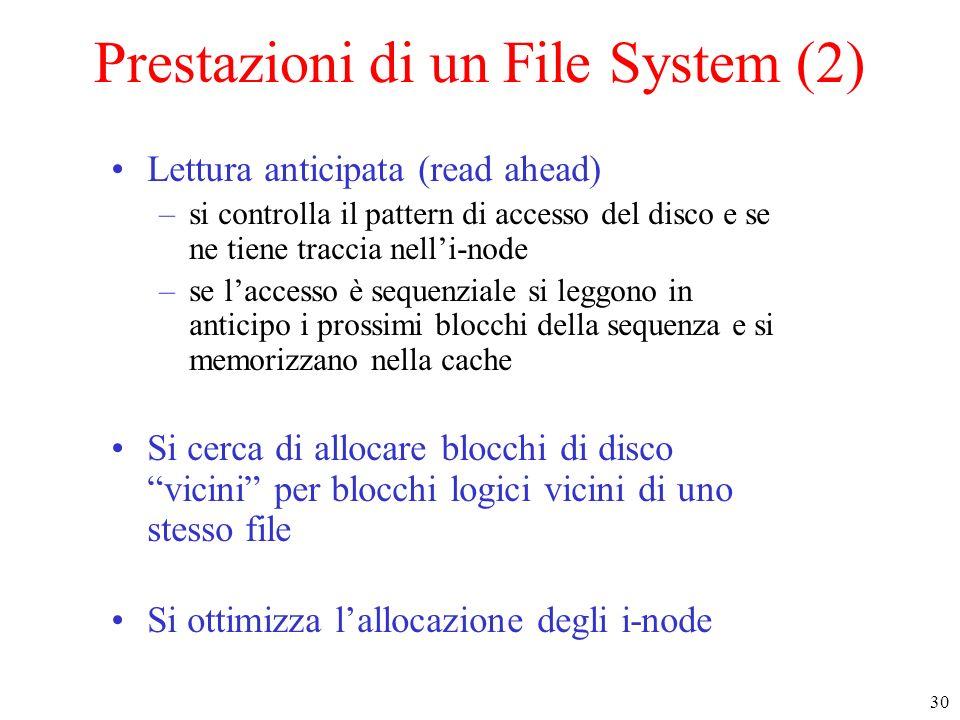 Prestazioni di un File System (2)