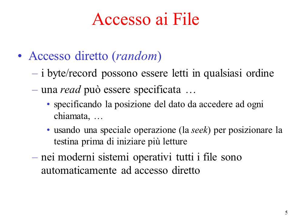 Accesso ai File Accesso diretto (random)