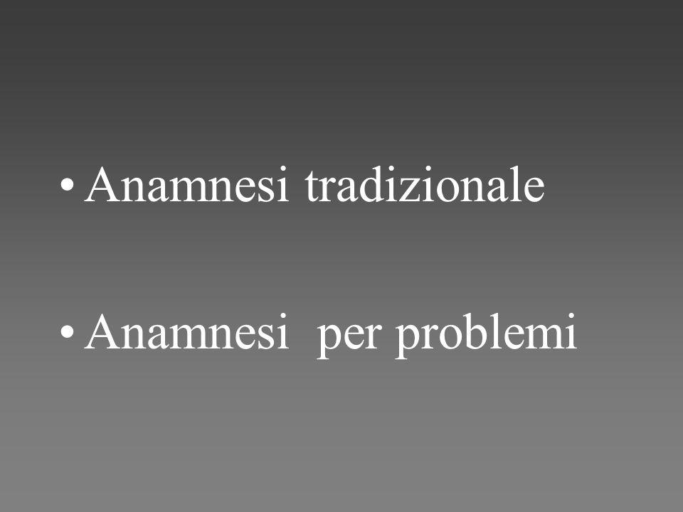 Anamnesi tradizionale