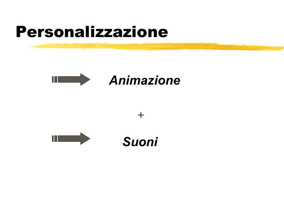 Personalizzazione Animazione + Suoni