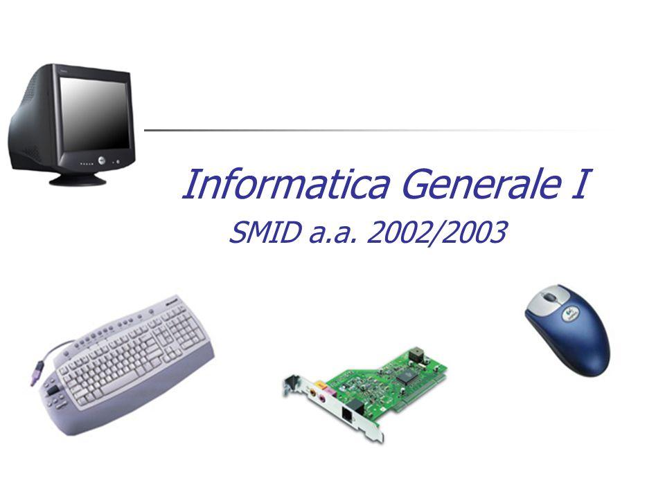 Informatica Generale I