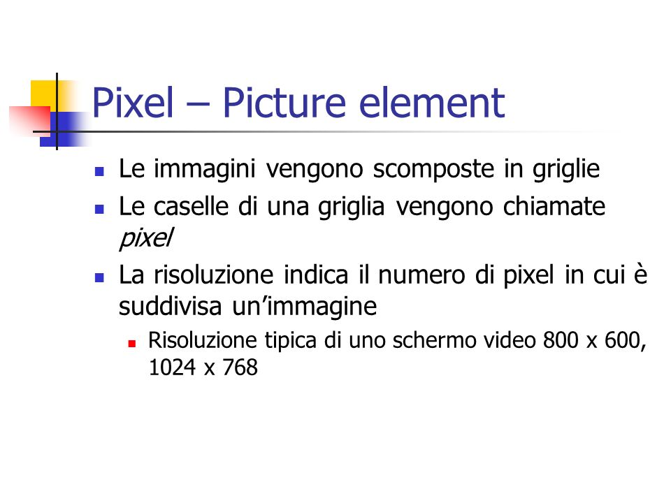 Pixel – Picture element