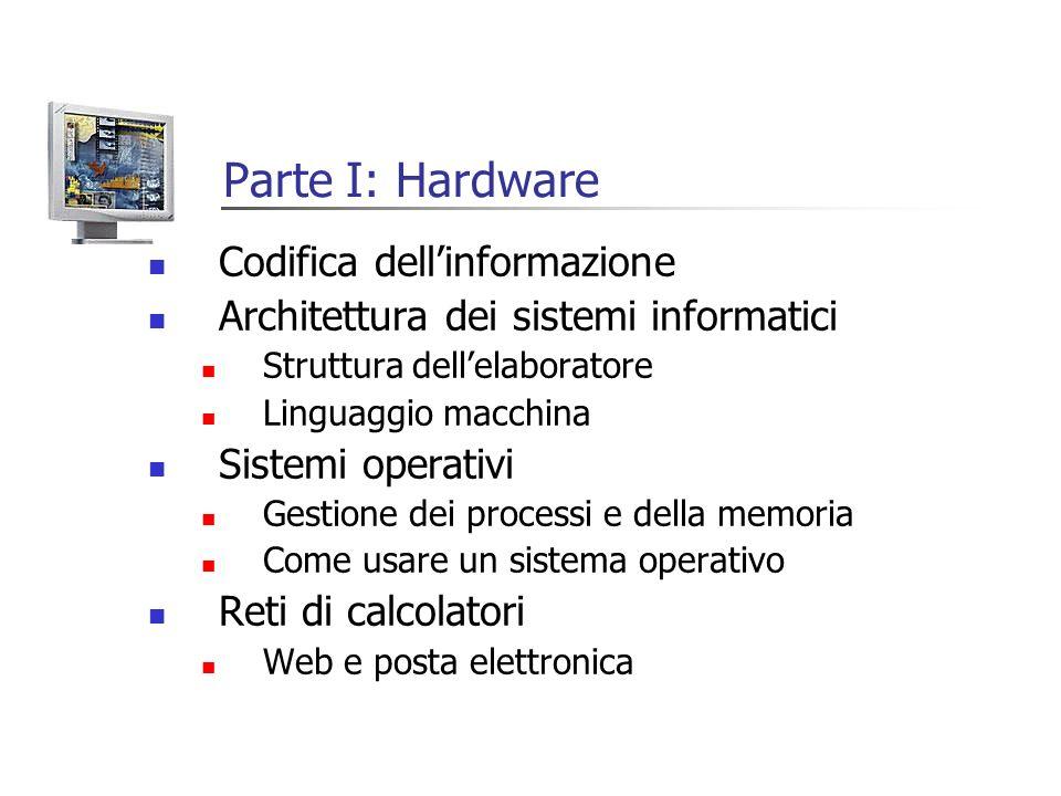Parte I: Hardware Codifica dell'informazione