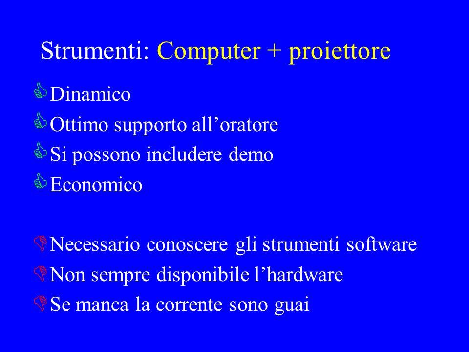 Strumenti: Computer + proiettore