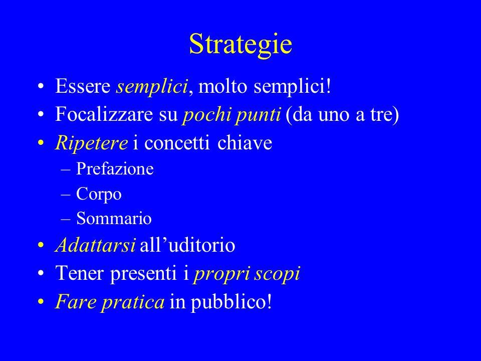 Strategie Essere semplici, molto semplici!