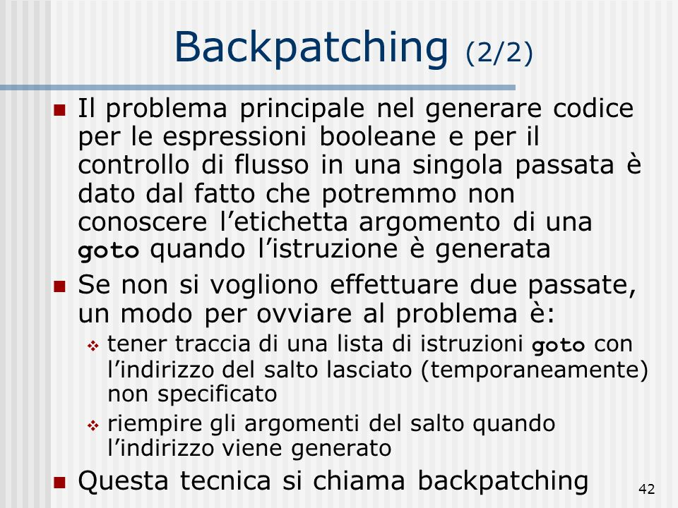 Backpatching (2/2)