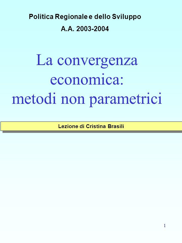 Politica Regionale e dello Sviluppo Lezione di Cristina Brasili