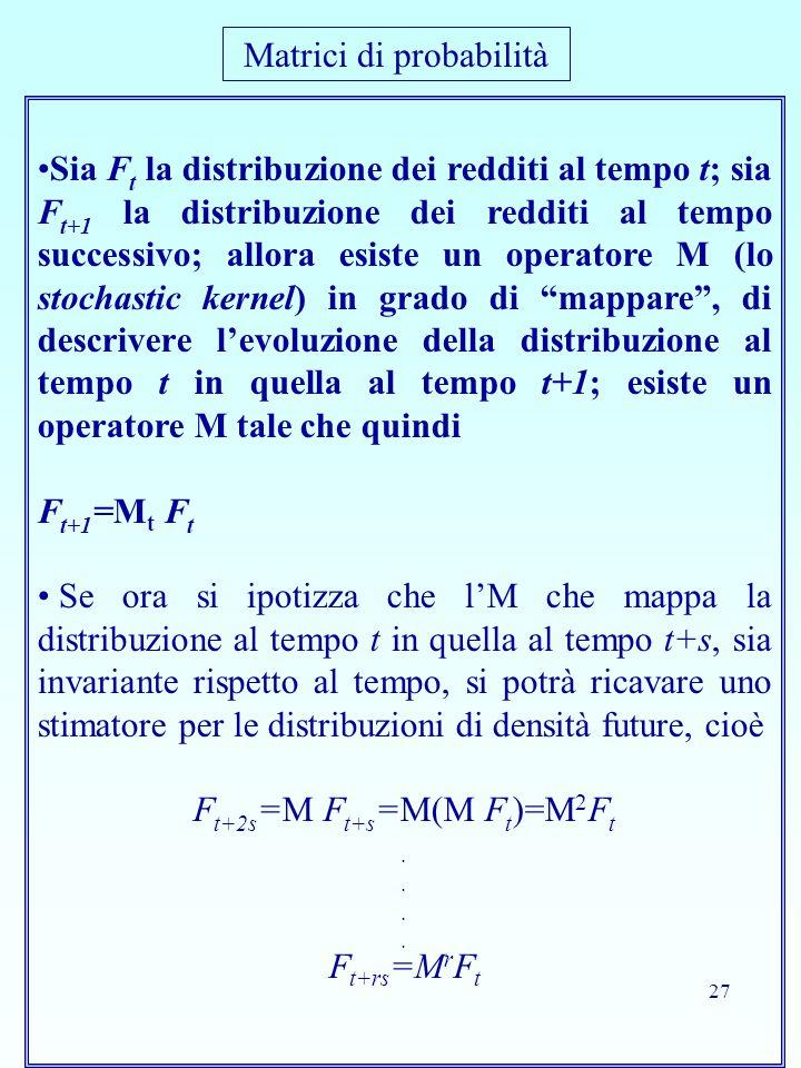 Matrici di probabilità