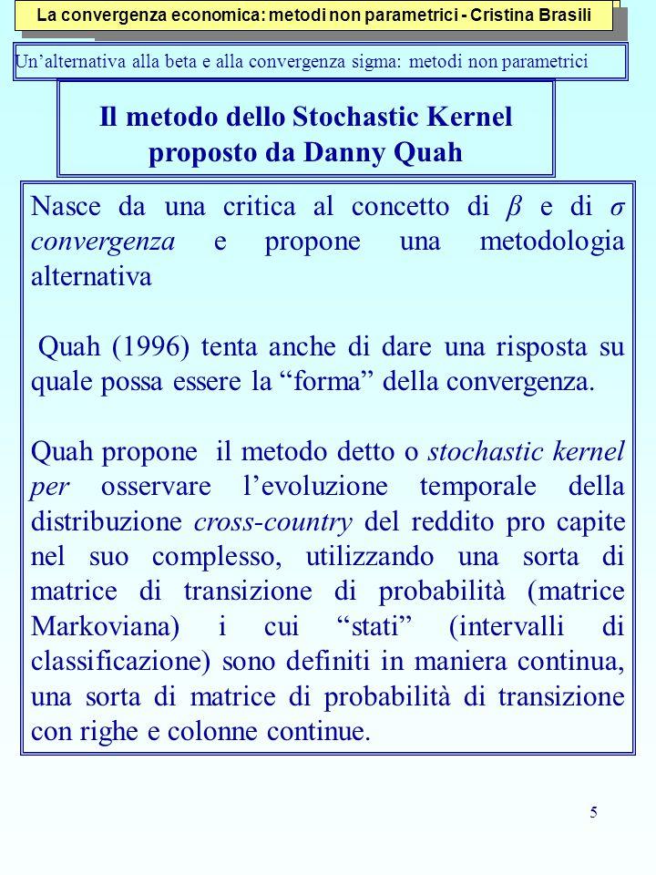 Il metodo dello Stochastic Kernel proposto da Danny Quah