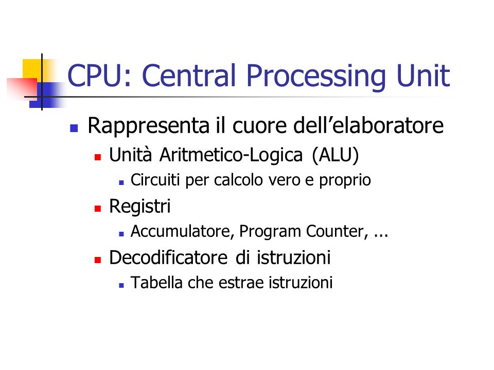CPU: Central Processing Unit