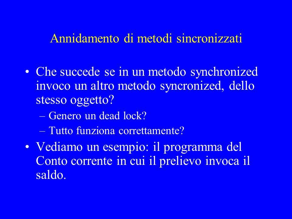 Annidamento di metodi sincronizzati