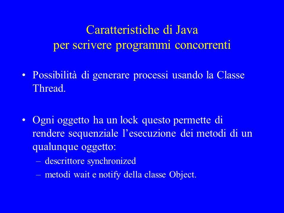 Caratteristiche di Java per scrivere programmi concorrenti