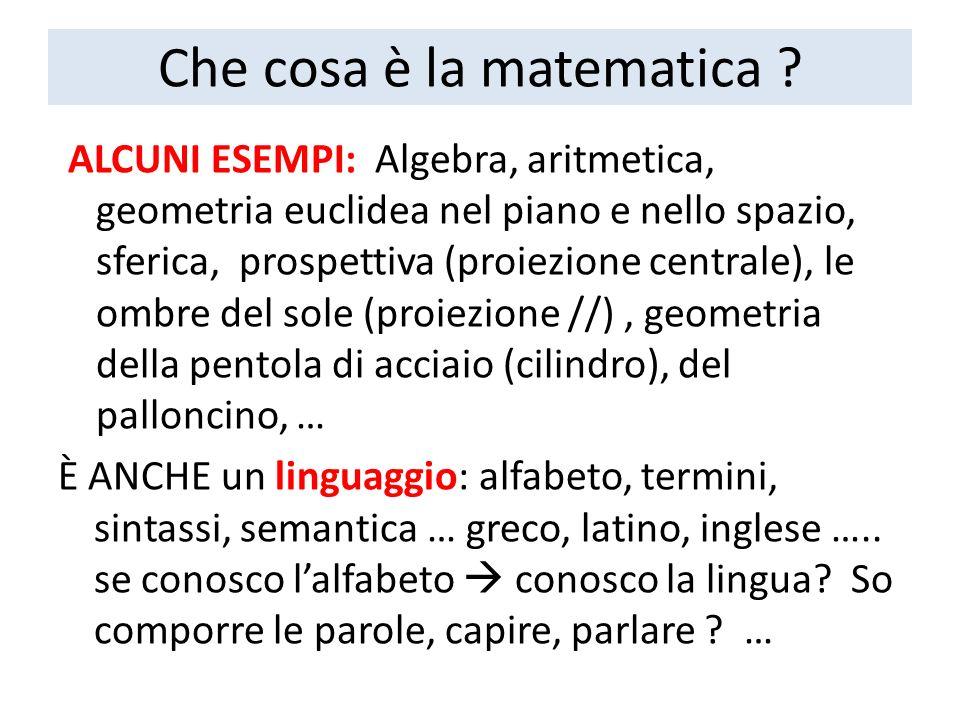 Che cosa è la matematica