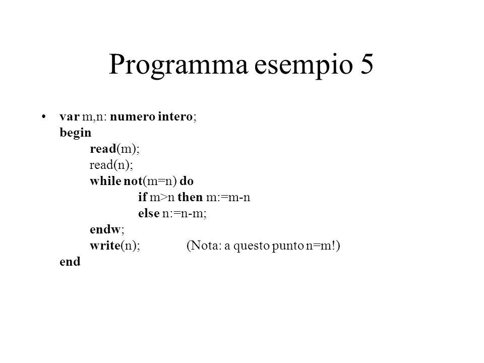 Programma esempio 5