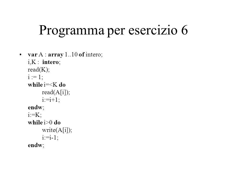 Programma per esercizio 6