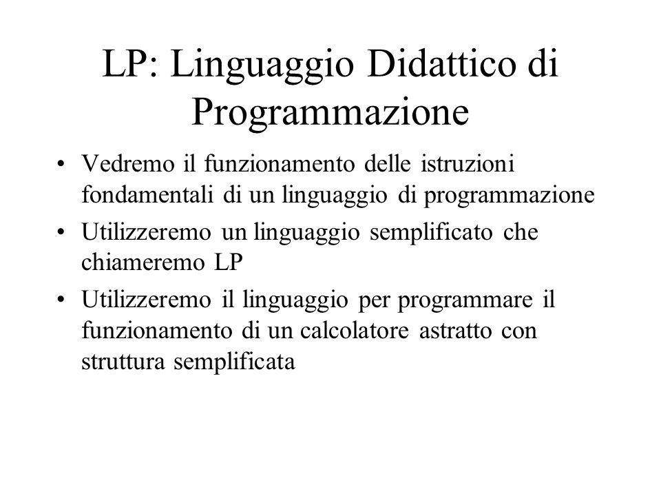 LP: Linguaggio Didattico di Programmazione