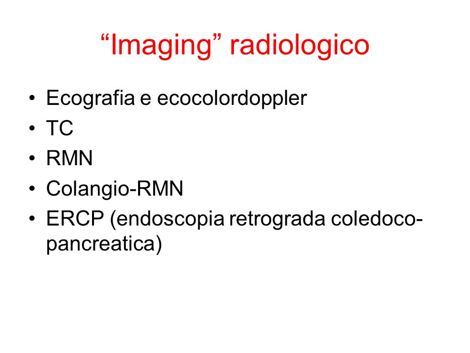 Imaging radiologico