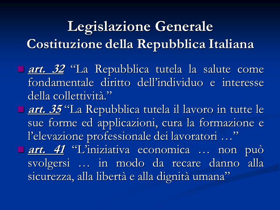 Legislazione Generale Costituzione della Repubblica Italiana