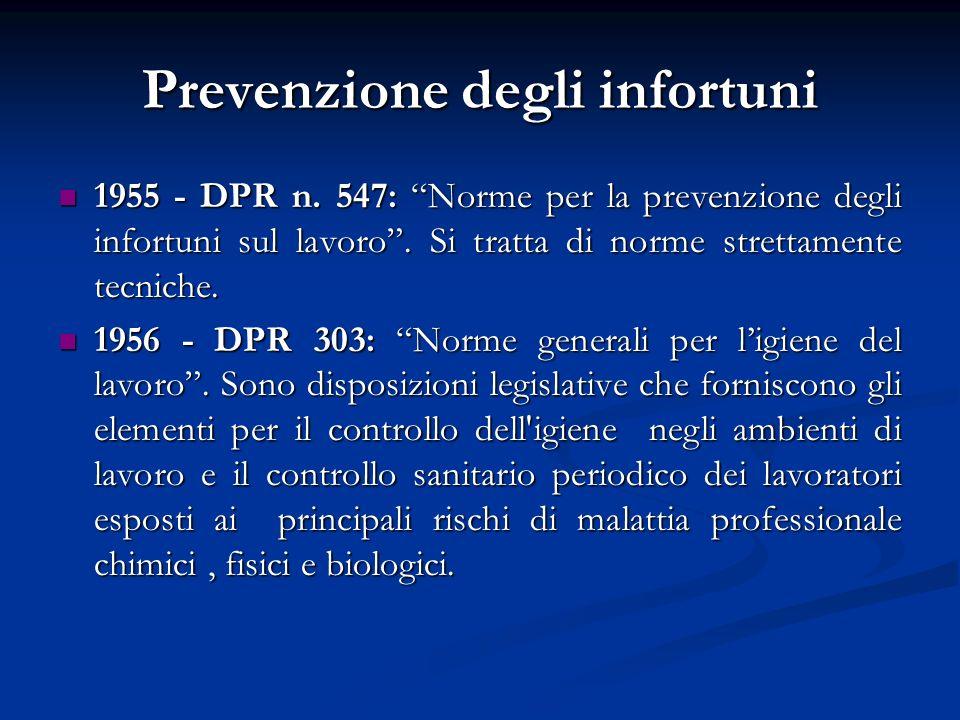 Prevenzione degli infortuni