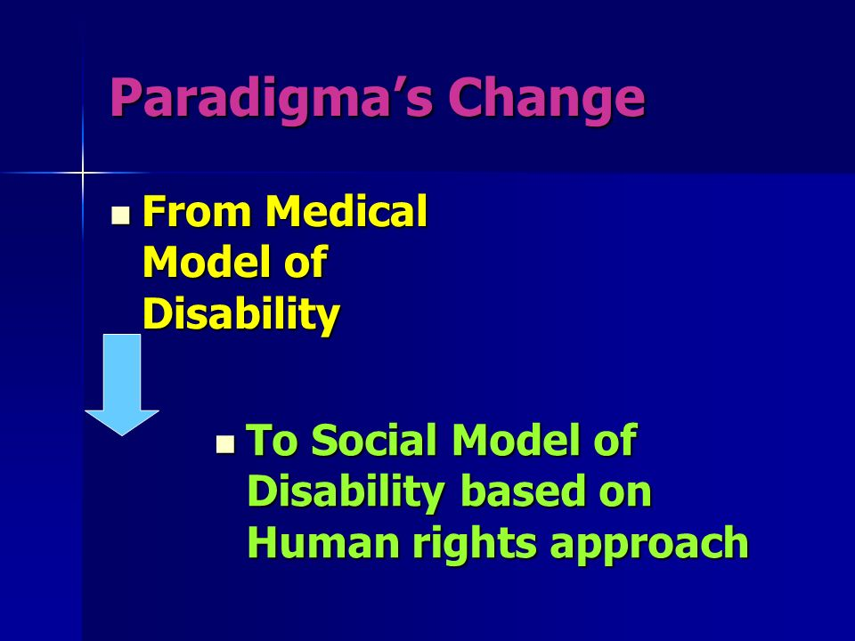 Paradigma's Change From Medical Model of Disability