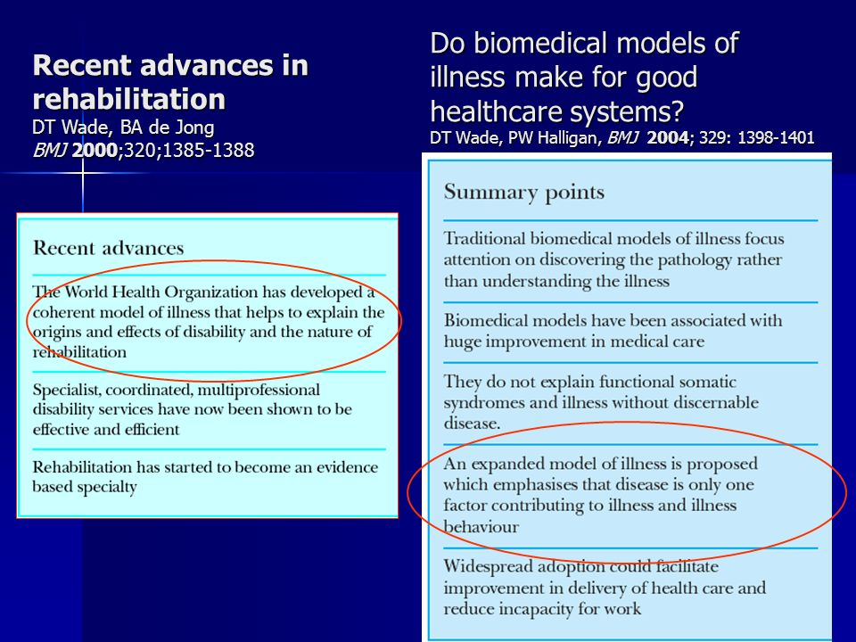 Do biomedical models of illness make for good healthcare systems