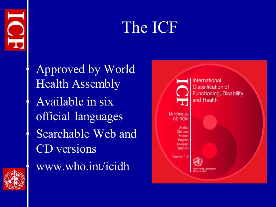 The ICF Approved by World Health Assembly