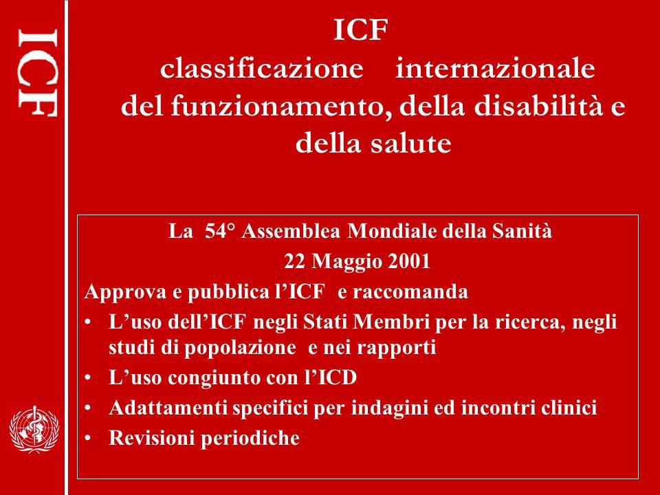 La 54° Assemblea Mondiale della Sanità