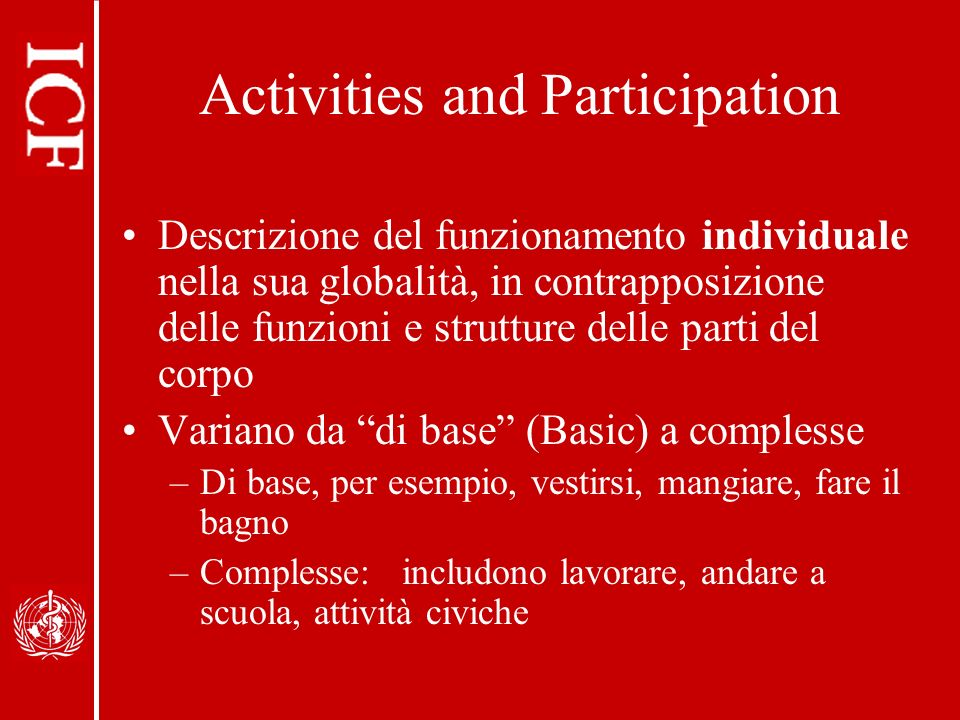 Activities and Participation