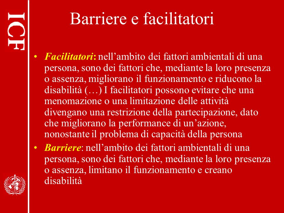 Barriere e facilitatori