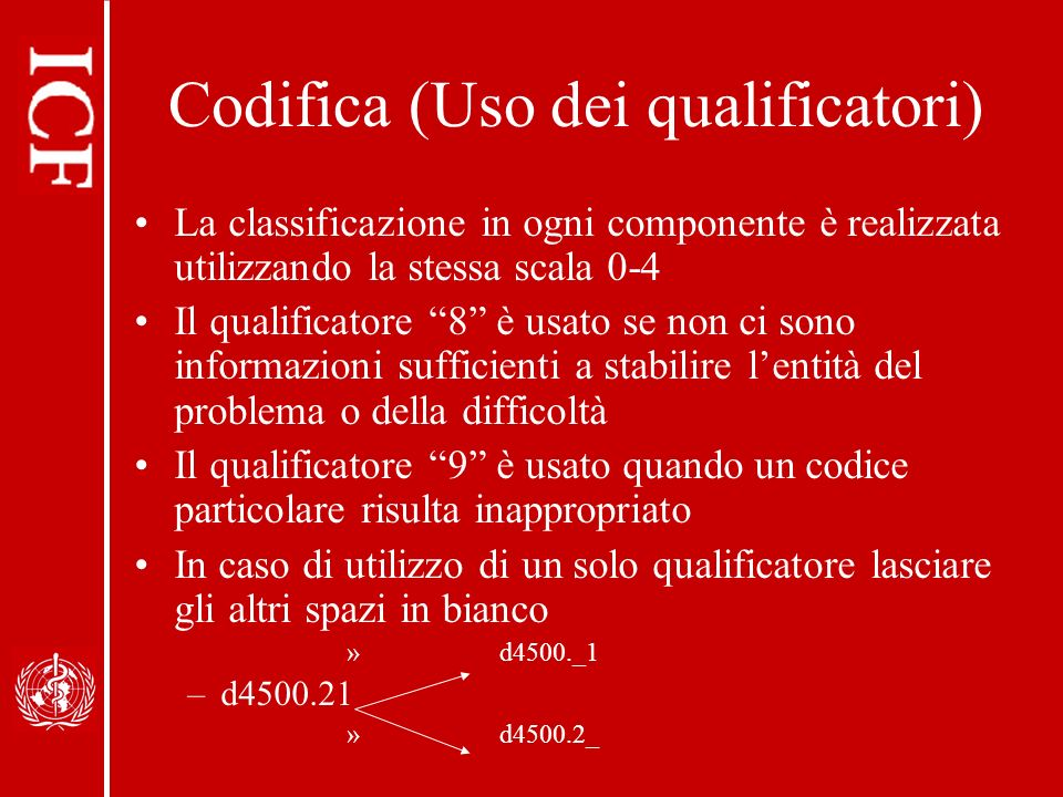 Codifica (Uso dei qualificatori)