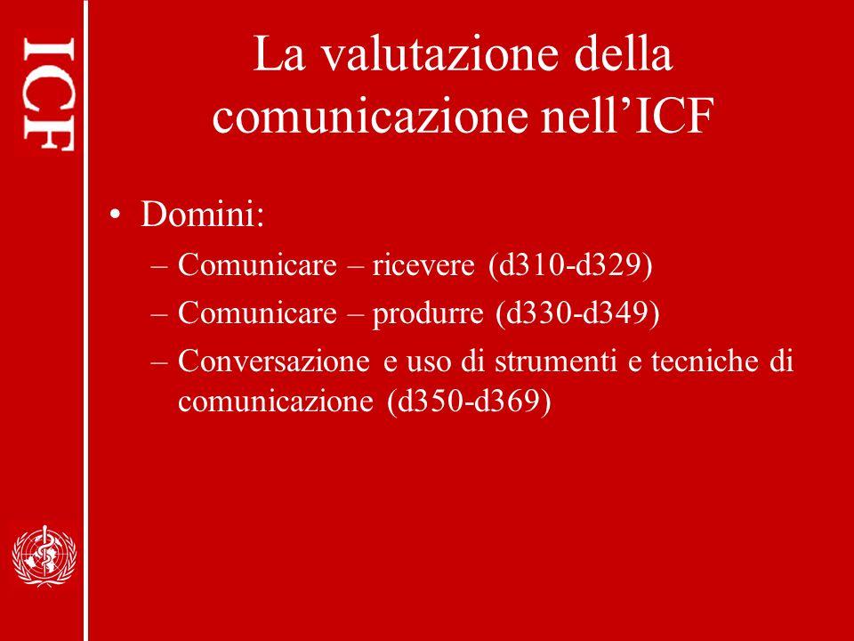 La valutazione della comunicazione nell'ICF