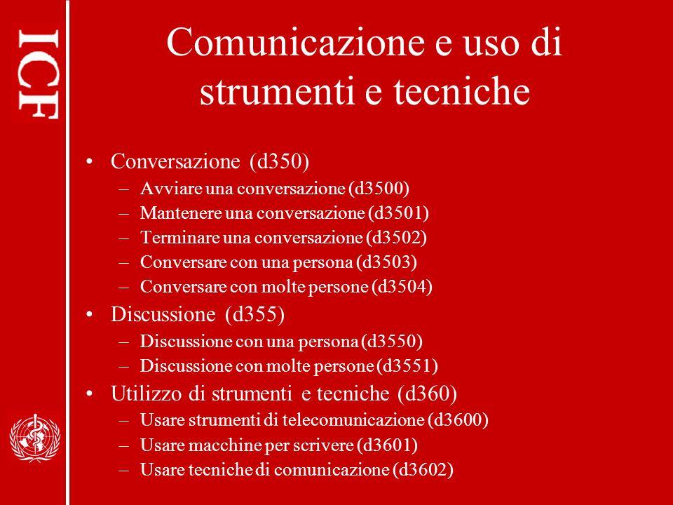 Comunicazione e uso di strumenti e tecniche