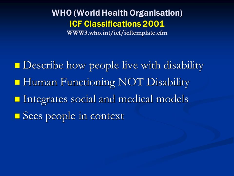 Describe how people live with disability