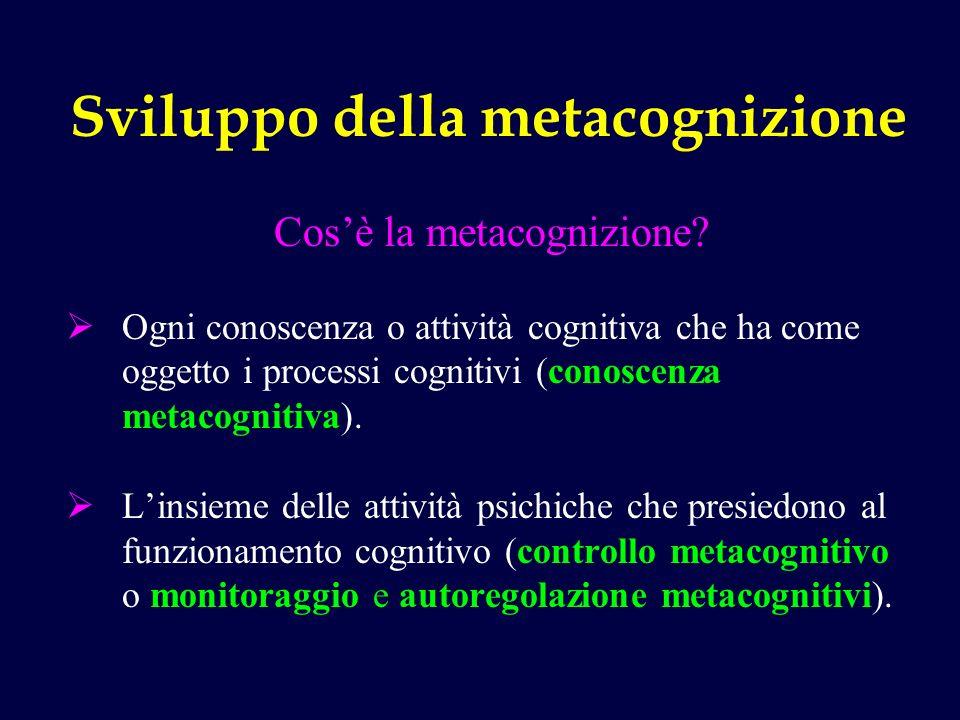 Sviluppo della metacognizione
