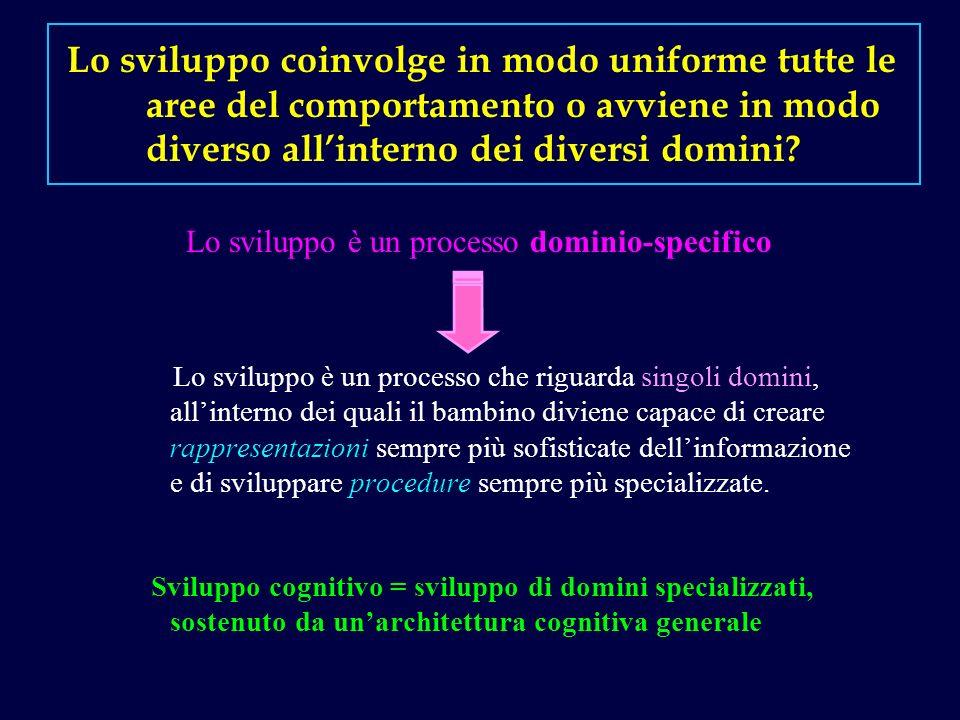 Lo sviluppo coinvolge in modo uniforme tutte le aree del comportamento o avviene in modo diverso all'interno dei diversi domini
