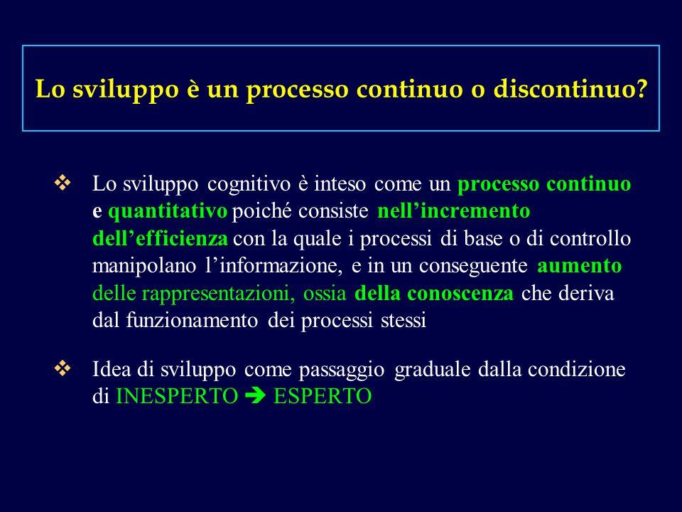Lo sviluppo è un processo continuo o discontinuo