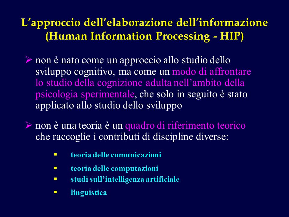 L'approccio dell'elaborazione dell'informazione (Human Information Processing - HIP)