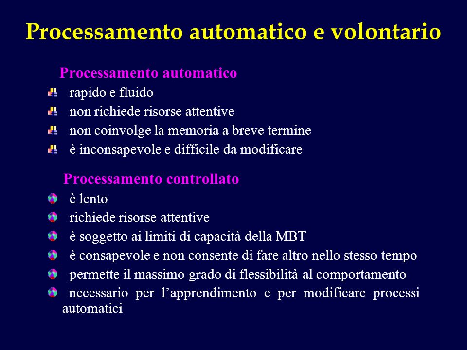 Processamento automatico e volontario